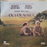 Out Of Africa Laserdisc 2 Disc set Robert Redford Meryl Streep Sydney Pollack Full Screen 161 Minutes Klaus Maria Brandauer