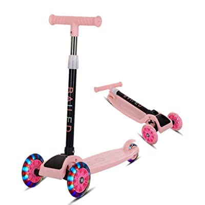 werall Durable Portable Folding with Flash Light Sliding Children Scooter Kick Scooters: Toys & Games