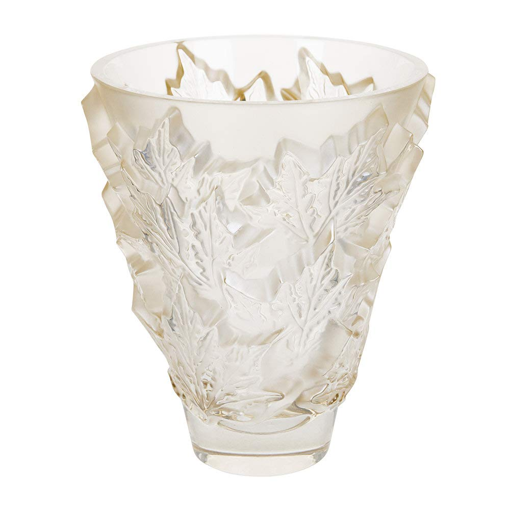 Lalique Champs-Elysees Vase - Gold Luster - Small by Lalique (Image #1)