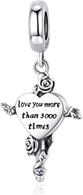 Sterling Silver Miracles On A Heart Shaped Dangle Charm Bead For Bead Charm Bracelet