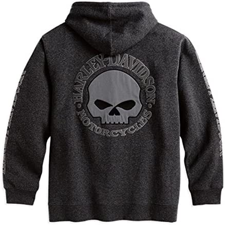 HARLEY-DAVIDSON® Men's Hooded Skull Sweatshirt - 99107-18VM