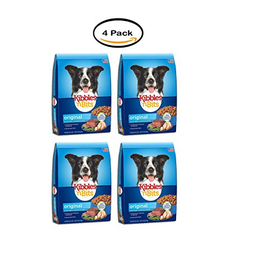PACK OF 4 - Kibbles 'n Bits Dog Food Savory Beef & Chicken Flavors Original, 16.0 LB