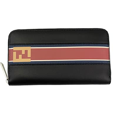f30805ea Fendi Black Leather Zip Around Long Wallet 7M0210 A1R2 at ...