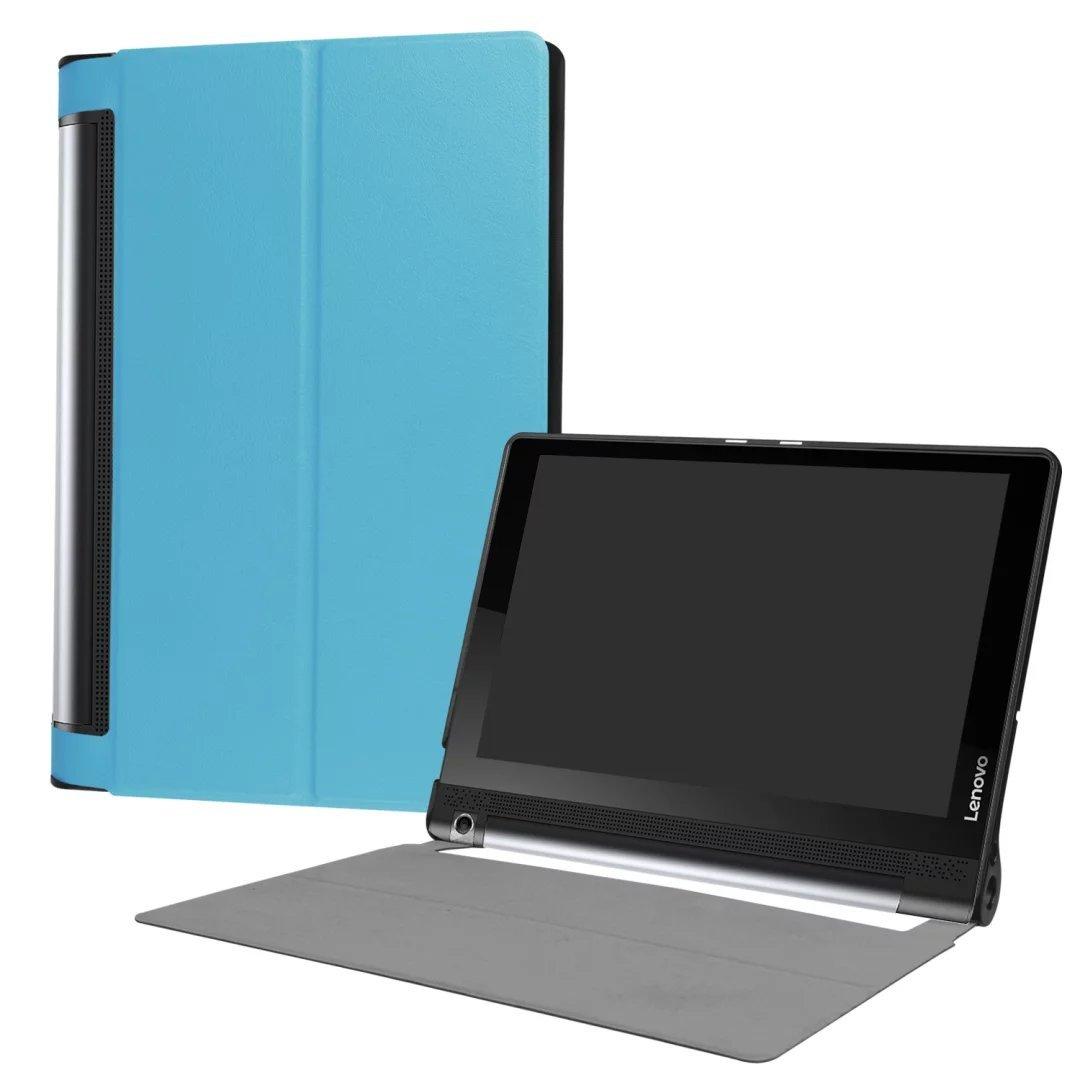 Xinda Lenovo YOGA Tab 3 Pro X90F/Lenovo Yoga Tab3 Plus YT3-X703F 10.1 Case,CY-karst Slim Folding Magnetic Stand Leather Case for Lenovo YOGA Tab 3 Pro ...