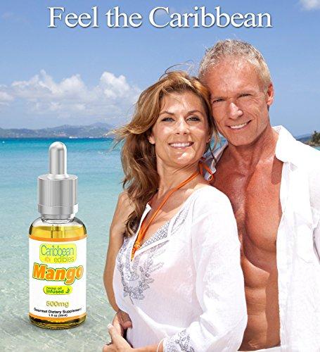 Caribbean-Edibles-Hemp-Oil-Supplement-Mango-Flavor-Grown-and-Bottled-in-USA-100-Organic-30-Servings-1oz-Almond-OilCoconut-OilHemp-Seed-Oil