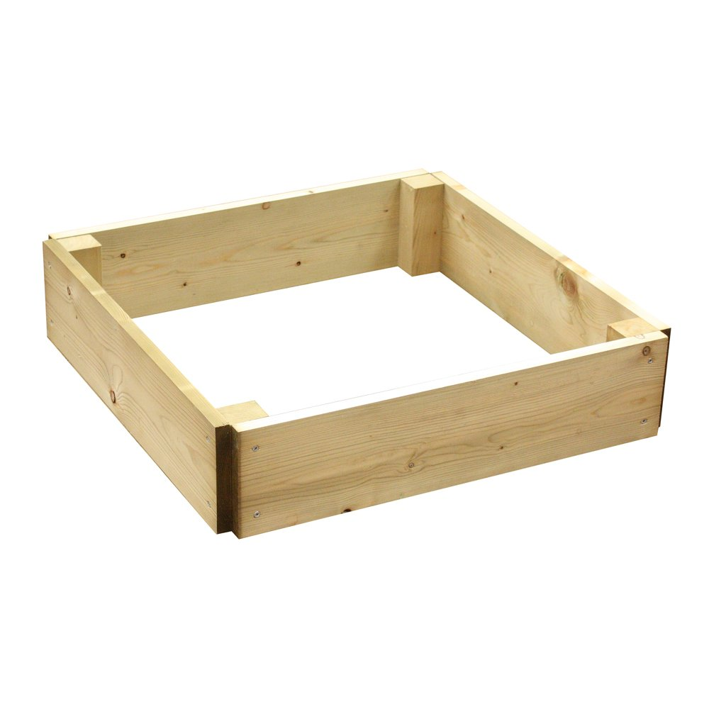 Greena® Square Raised Bed - Ideal herb planter/flower planter - Different sizes available (60(L) cm x 60(W) cm x 15(H) cm)