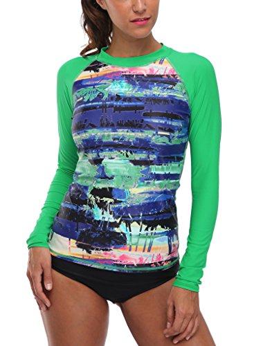 CharmLeaks Womens Rashguard Sleeve Swimwear product image