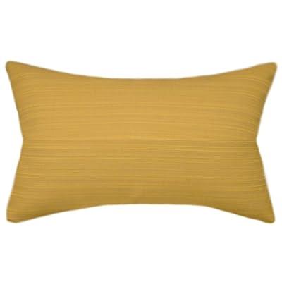 TPO Design, Sunbrella Dupione Cornsilk Indoor/Outdoor Textured Patio Pillow 12x18 (Rectangle): Home & Kitchen
