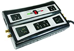Arista 52-5812 12-Outlet Home Theater Power Center with Surge Protection