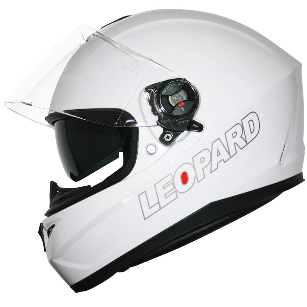 Leopard LEO-828 Double Sun Visor Full Face Motorbike Motorcycle Scooter Helmet Union Jack XS 53-54cm
