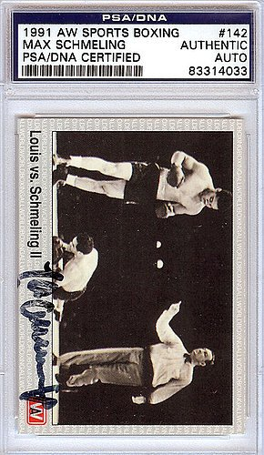 b4ac0f7c58a Image Unavailable. Image not available for. Color  Max Schmeling Signed  1991 AW Sports Boxing Card - PSA DNA Authentication - Boxing Memorabilia