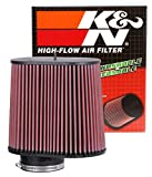 K&N RC-5102 Universal Clamp-On Air Filter: Oval Straight; 4 in (102 mm) Flange ID; 8.938 in (227 mm) Height; 9.5 in x 6.75 in (241 mm x 171 mm) Base; 9 in x 5.5 in (229 mm x 140 mm) Top