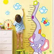 Wall Decal Elephant Bee Sun Height Measurement Home Sticker Paper Removable Living Dinning Room Bedroom Kitchen Art Picture Murals DIY Stick Girls Boys kids Nursery Baby Playroom Decoration