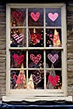 140 PCS Valentine's Day Window Clings Heart Stickers Decal - Party Decorations Supplies