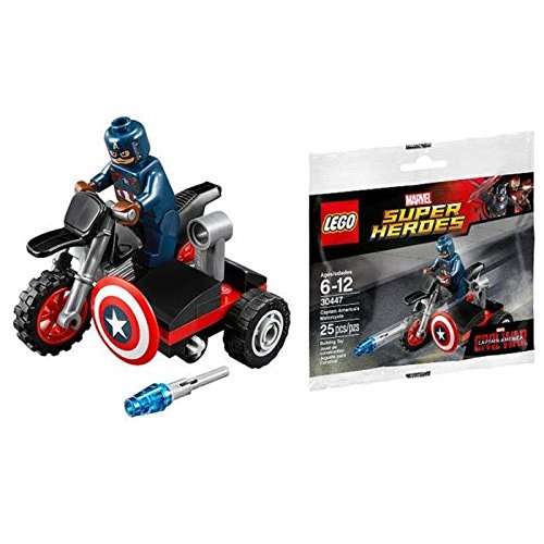 Captain+America Products : LEGO Marvel Captain America Civil War Captain Americas Motorcycle Mini Set #30447 [Bagged]