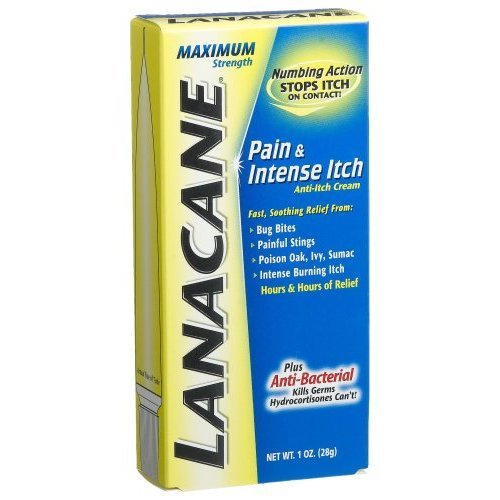 Strength Anti Itch Medication Cream (Special Pack of 5 Lanacane Lanacane Maximum Strength Anti-Itch Medication Cream - 1oz X 5)