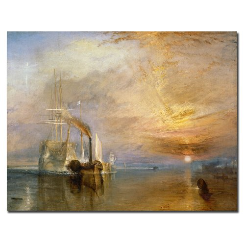 The Fighting Temeraire, 1839 by Joseph Turner, 35x47-Inch Canvas Wall Art