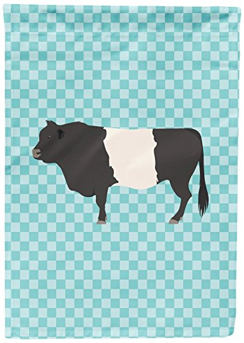 Belted Check (Caroline's Treasures BB8005GF Belted Galloway Cow Blue Check Garden Flag, Multicolor)