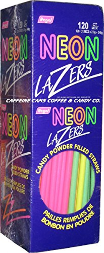 Neon Lazers Candy Powder Filled Straws