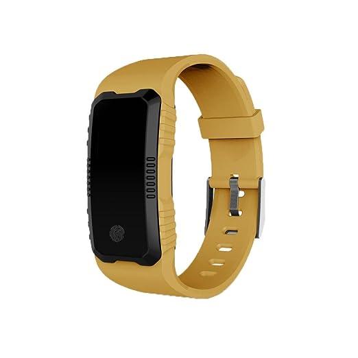 Reloj Inteligente Xinan Fitness Tracker Pulsera Inteligente Monitor de Pulso Cardiaco Bluetooth Pulsera Inteligente Deporte Actividad
