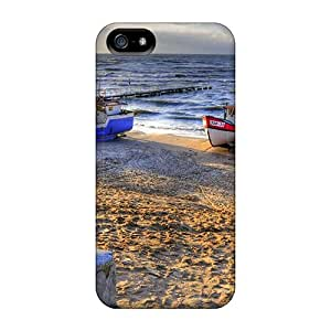 5/5s Scratch-proof Protection Cases Covers For Iphone/ Hot Lovely Boat Fleet On The Beach Hdr Phone Cases