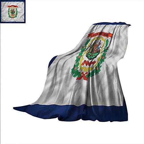 American Digital Printing Blanket State of West Virginia Summer Quilt Comforter 62