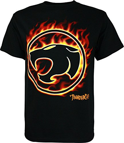 Flaming Thundercats Big Logo T-shirt, adult - S to XXL