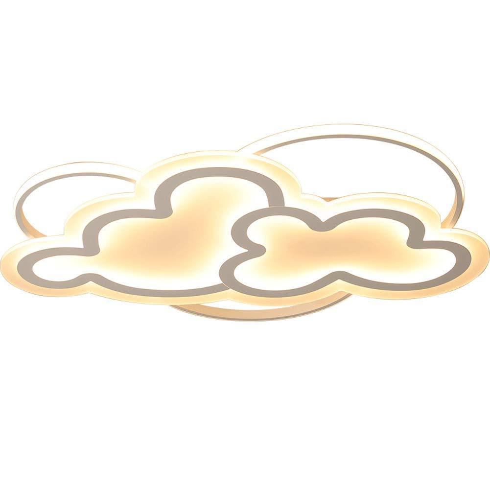 HIL 60W Luz de techo LED Original Forma de nube irregular Acr/ílico Luz de techo Arte moderno interesante para la habitaci/ón de los ni/ños Sala de estar Dormitorio Dormitorio Patio Luz blanca