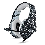 PS4 Gaming Headset with Mic for PC Mac Laptop New Xbox one Nintendo DS PSP Surround Stereo Sound Noise Reduction One Key Mute Gaming Volume Control Omnidirectional Microphone Gamer ( Camouflage ) by ONIKUMA
