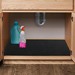 Kitchen LotFancy Under Sink Mat for Kitchen, with Absorbent Fabric and Anti-slip Waterproof Backing, Washable Under Cabinet… under-sink organizers