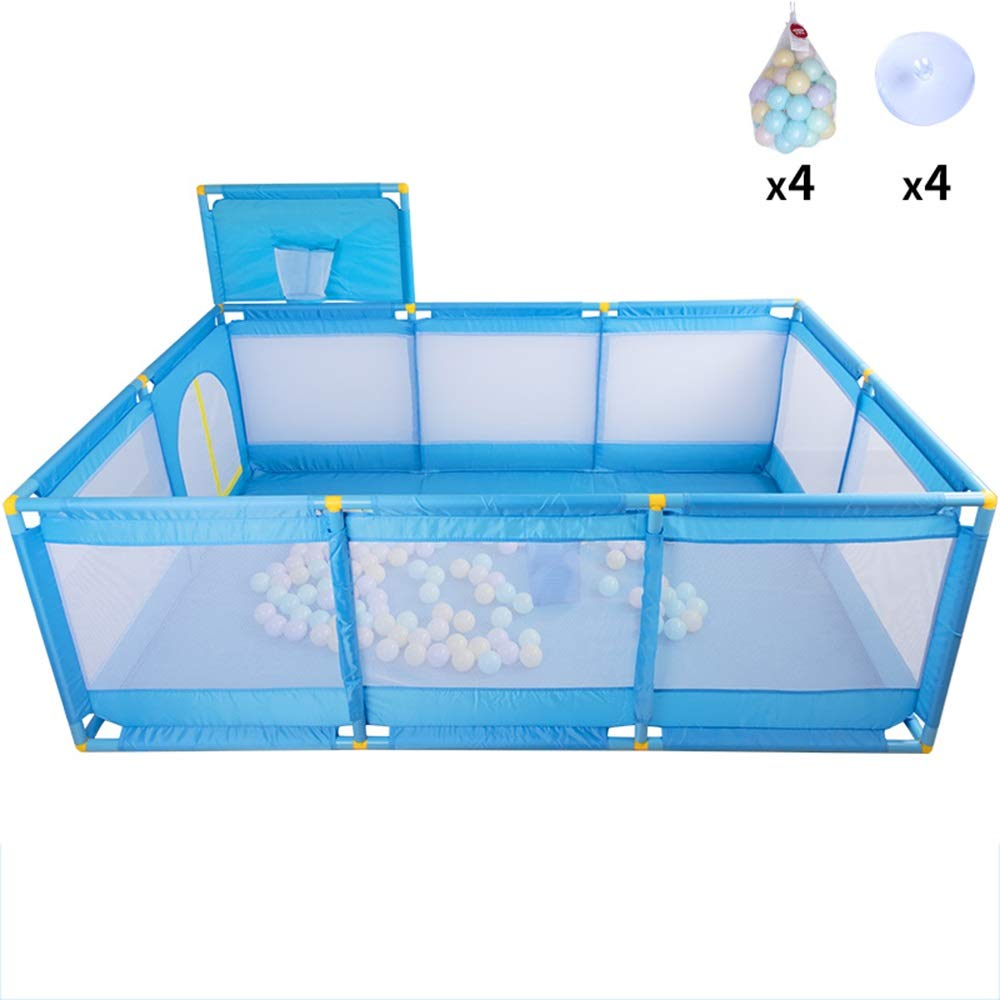 B Suction cup+200marine ball B Suction cup+200marine ball Xyanzi-Portable Baby playpen Safety Play Center,Baby Play Yard Portable Play Yard Fence Ball Pit Tent Safety Play Center Yard Home Indoor Outdoor (color   B, Size   Suction Cup+200marine Ball)