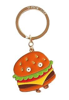 Portachiavi design creativo con ciondolo Hamburger