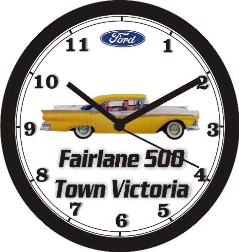 1957 FORD FAIRLANE 500 TOWN VICTORIA WALL CLOCK-Free USA Ship (Fairlane 500 Ford)