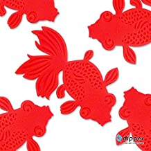 dipper Goldfish Coaster Drink Silicon Cup Mat Beverage Placemat Set of 5 Ideal for Hot and Cold drinks Comes With BoxCave Microfiber Cleaning Cloth