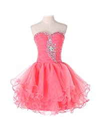Vimans Women's 2016 Mini Sweetheart Beaded Puffy Cocktail Party Dresses
