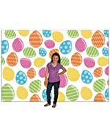 Large Easter Egg Hunt Party Photo Booth Backdrop Background Banner - 9 x 6 ft