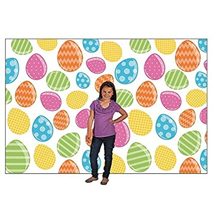 large easter egg hunt party photo booth backdrop background banner 9 x 6 ft