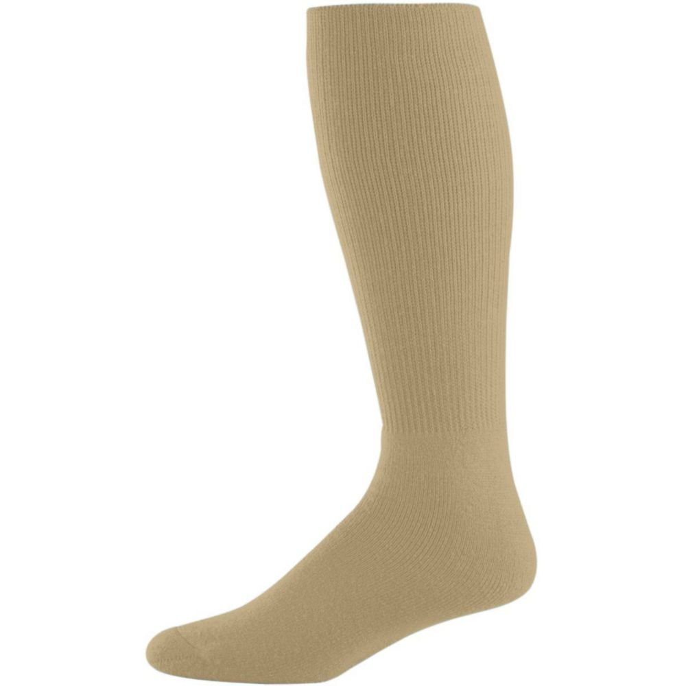 Augusta Activewear Athletic Socks -Youth, Vegas Gold, 7-9