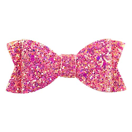 22cm30cm Glitter Synthetic Leather Fabric Chunky Glitter Fabric Party Wedding Decoration DIY Hairbows Materials,3inch Hairgrips3