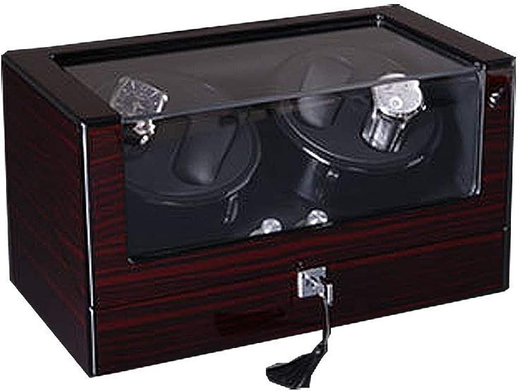 Caja de Reloj de Almacenamiento, Automatic Watch Winder Box, 5 Modo giratoria Temporizador, Caja de Cuero de Almacenamiento de Madera, Negro, 4 + 6: Amazon.es: Relojes