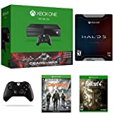 Xbox One 500GB Gears of War Ultimate Bundle + Halo 5: Guardians Limited Edition + Fallout 4 + Tom Clancy's The Division + Xbox One Wireless Controller - Black