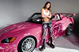 Devon Aoki 24x36 Movie Poster Pink Hot Rod Car Fast and the Furious