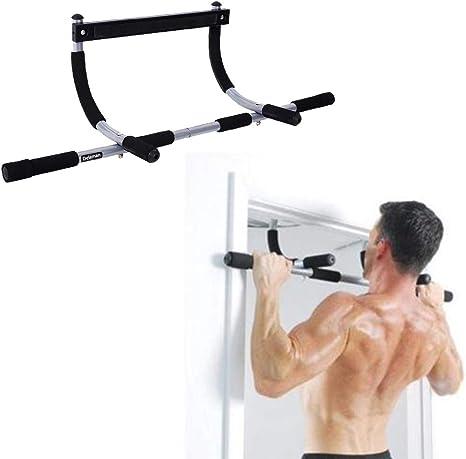 Barra para la barbilla, ejercicio de acondicionamiento físico MAGT Barra para levantar la puerta de la casa Barra de abdominales Fuerza para la ...