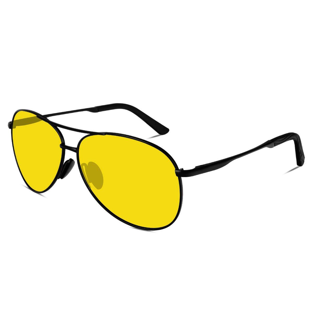 9326262cf4 VVA Lunette de soleil Homme Polarisées Aviateur Polarisées Lunettes de  soleil Hommes Unisexe UV400 Protection By