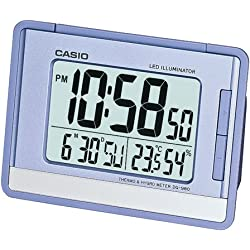 Casio Auto Calendar Thermometer Digital Travel Alarm Clock DQ980-2 Baterry Included