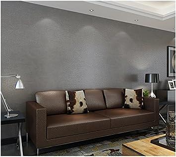 Yosot Einfache Und Schlichte Tapete Wohnzimmer Schlafzimmer Reine Tapete Vliestapeten Tapete Hellgrau Amazon De Baumarkt