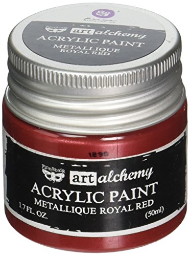 Prima Marketing 963088 Finnabair Art Alchemy Acrylic Paint, 1.7 fl. oz, Metallique Royal Red