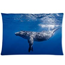 Humpback Whale Pillowcases Custom Pillow Case Cushion Cover 20 X 30 Inch Two Sides