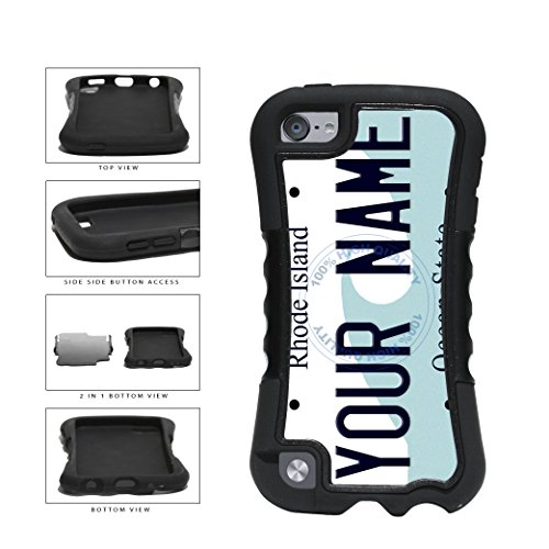 BleuReign(TM) Personalized Custom Name Rhode Island State License Plate 2-Piece Dual Layer Phone Case Back Cover For Apple iPod Touch 5th - Newport Fashion Island