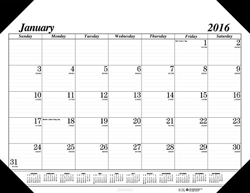 "House of Doolittle 2016 Monthly Desk Pad Calendar, Economy, 18.5"" x 13"" (HOD012402-16)"